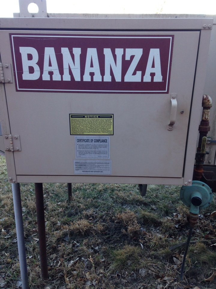 Three Rivers, MI - Heater repair, replace air discharge sensor on Bananza paint booth make up air heater