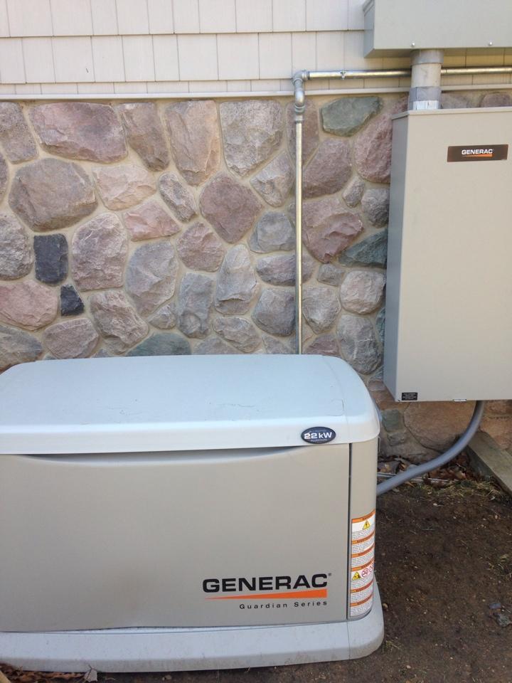 Delton, MI - Generator install, ran gas line to Generac gas generator