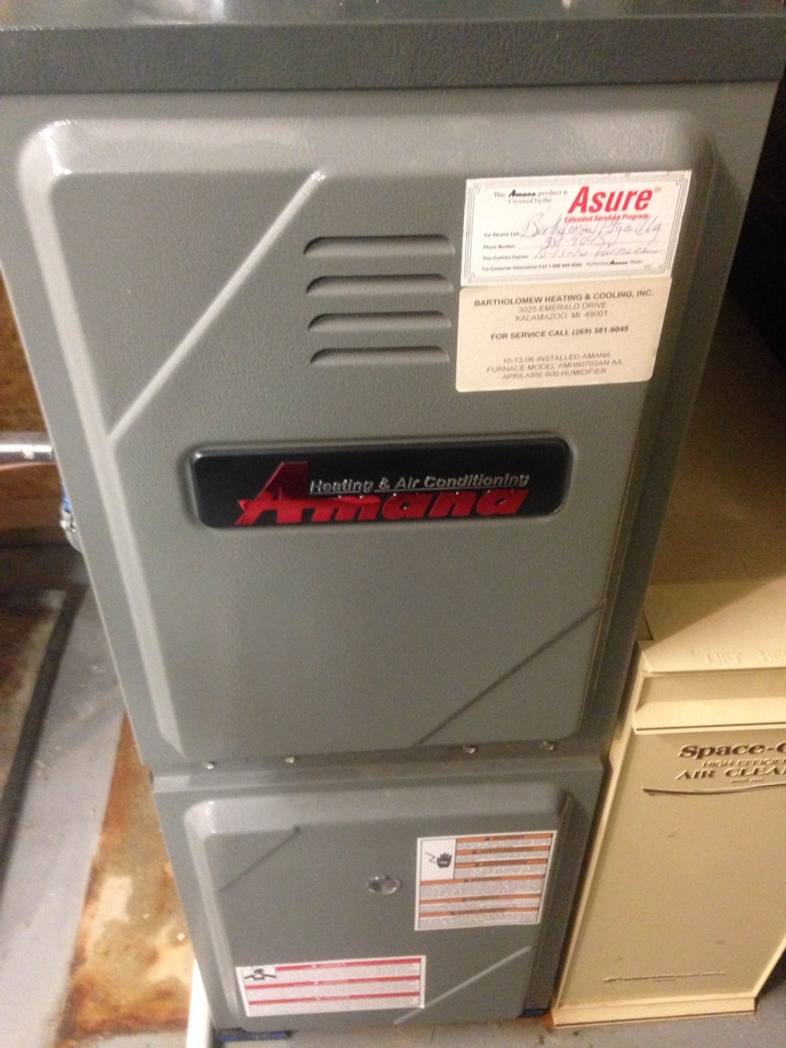 Oshtemo, MI - Furnace repair, replaced inducer motor that was noisy on Amana gas furnace
