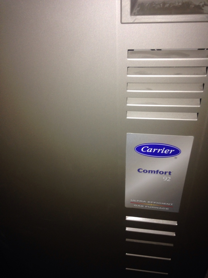 Texas charter Township, MI - Furnace repair, repaired water leak on condensate line on Carrier furnace
