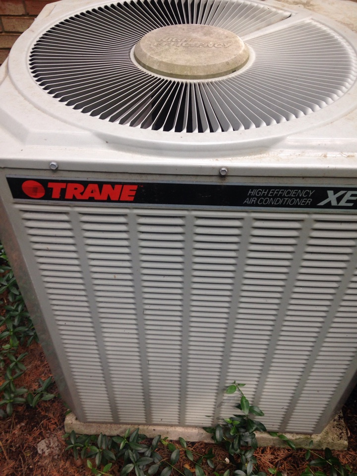 Kalamazoo, MI - A/C maintenance, perform annual maintenance on Trane air conditioner