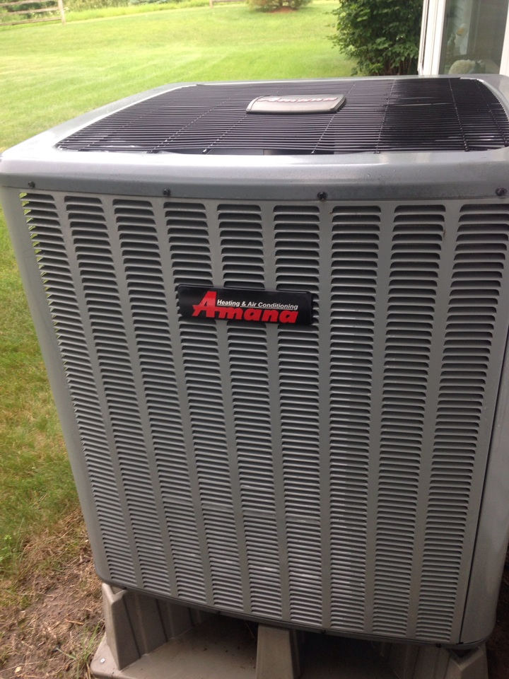 Heat pump tune up, perform annual service on Amana heat pump