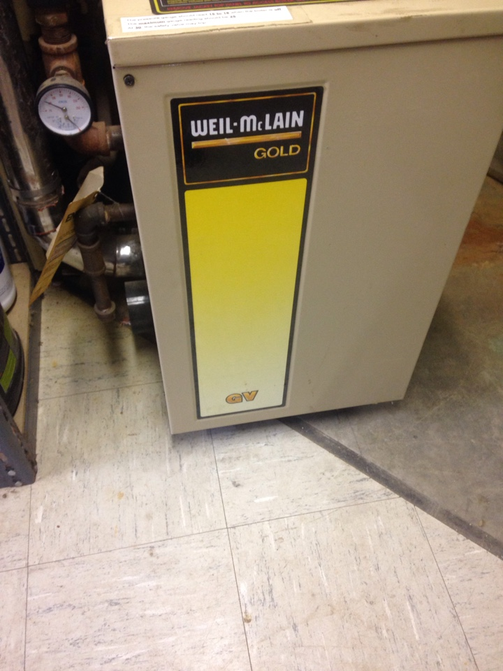 Boiler repair, repair leak in boiler line on Weil McLain boiler