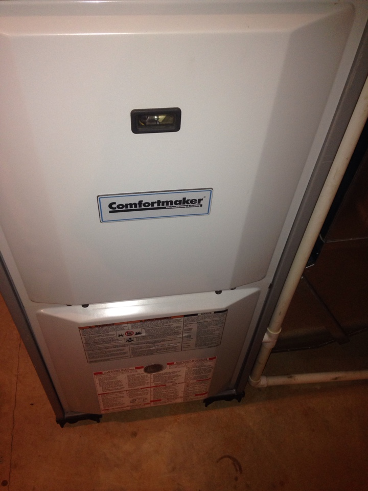 Furnace repair, replace inducer motor that was noisy, perform maintenance service on Comfortmaker gas furnace