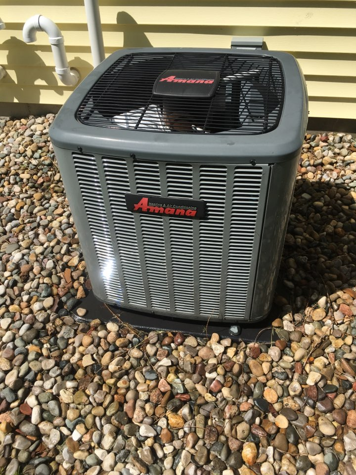 Portage, MI - Annual service on Amana air conditioner, perform maintenance service on a/c unit and replaced Aprilaire air filter