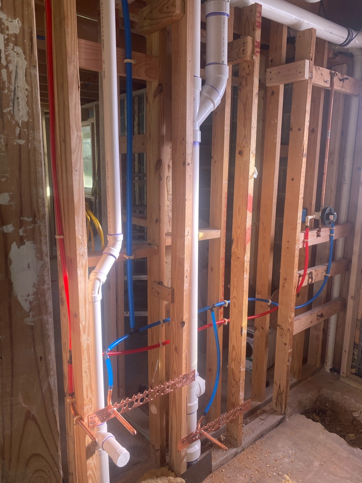 Edgewater, MD - Water piped a basement bathroom in Edgewater, MD