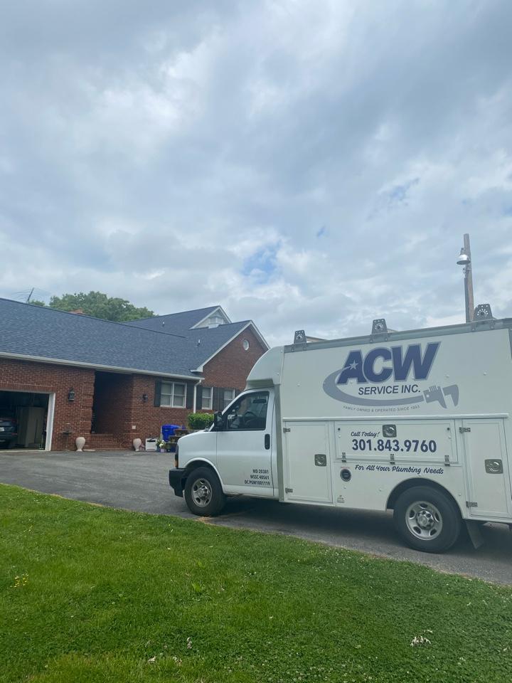 Pipe repair, new flange install, and toilet repair in Bryantown, MD