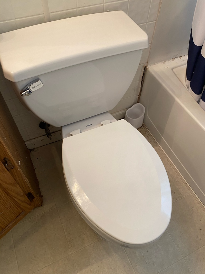 Installed pressure assisted toilet in LaPlata, MD