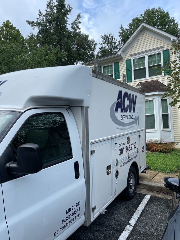 Toilet install in White Plains, MD