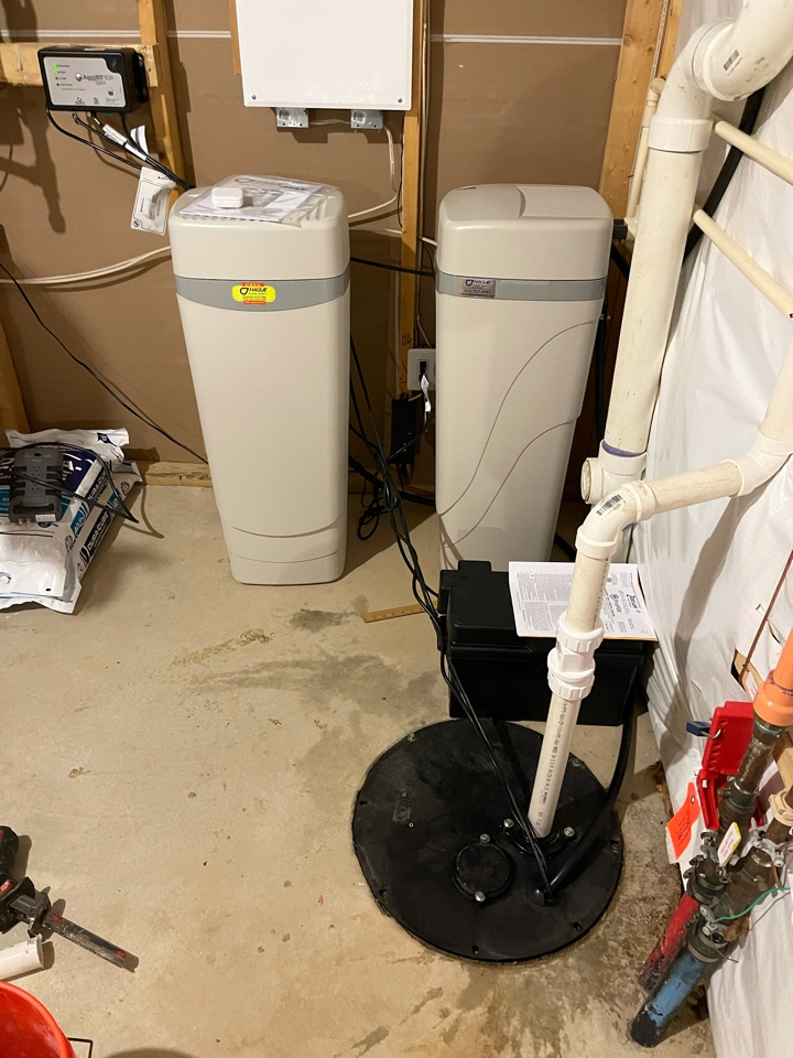 Installed new sump pump and battery back up system in White Plains, MD