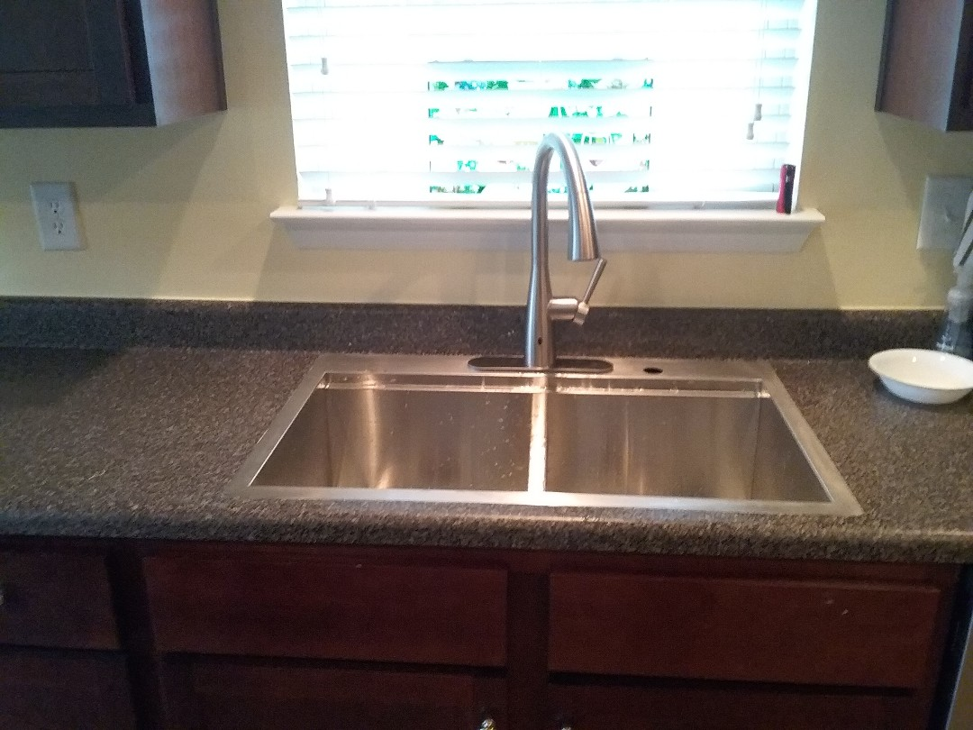 Hoover, AL - Plumbing and gas. Installed new sink and faucet.