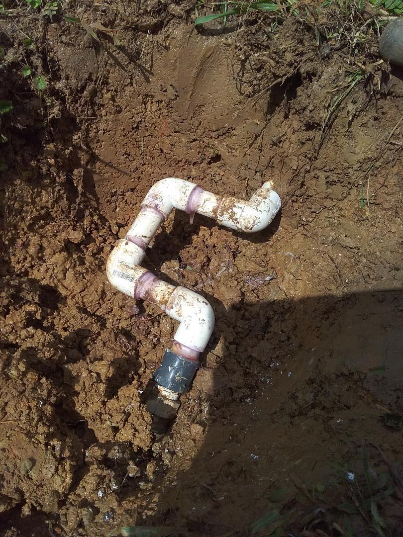 Columbiana, AL - Plumbing and gas. Repaired leak in water main