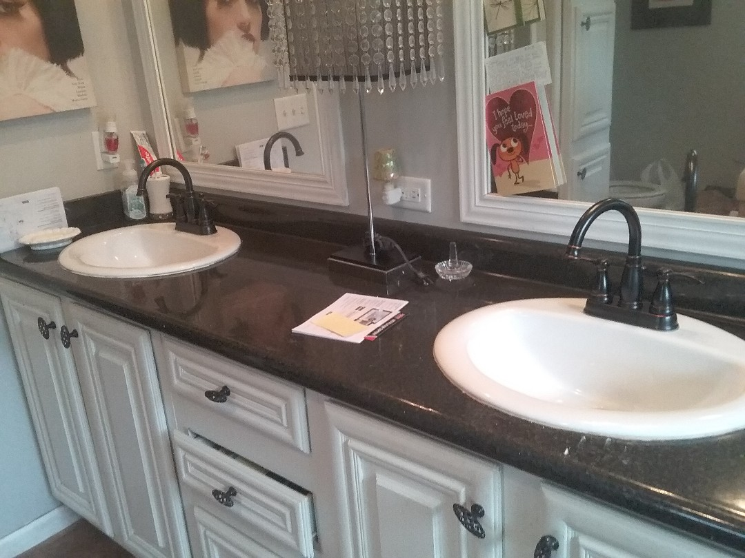 Wilsonville, AL - Plumbing and gas. Installed 2 new lavatory faucets. Fixed leak in kitchen sink