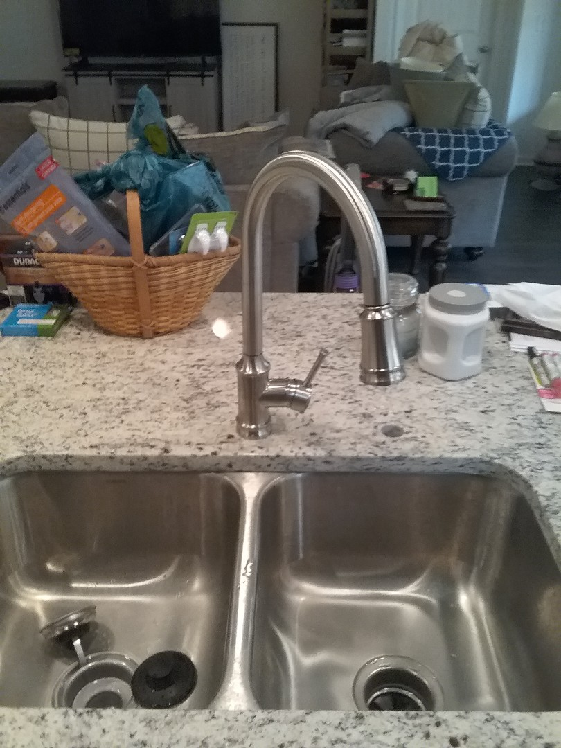 Chelsea, AL - Installed new kitchen faucet and garbage disposal