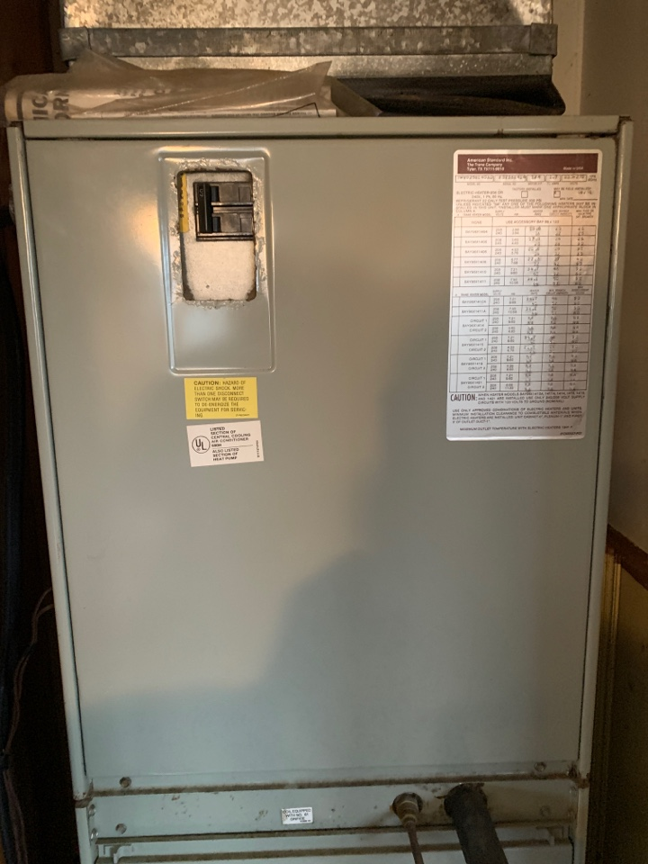 Just made repairs to a American standard air handler and Lindale Texas