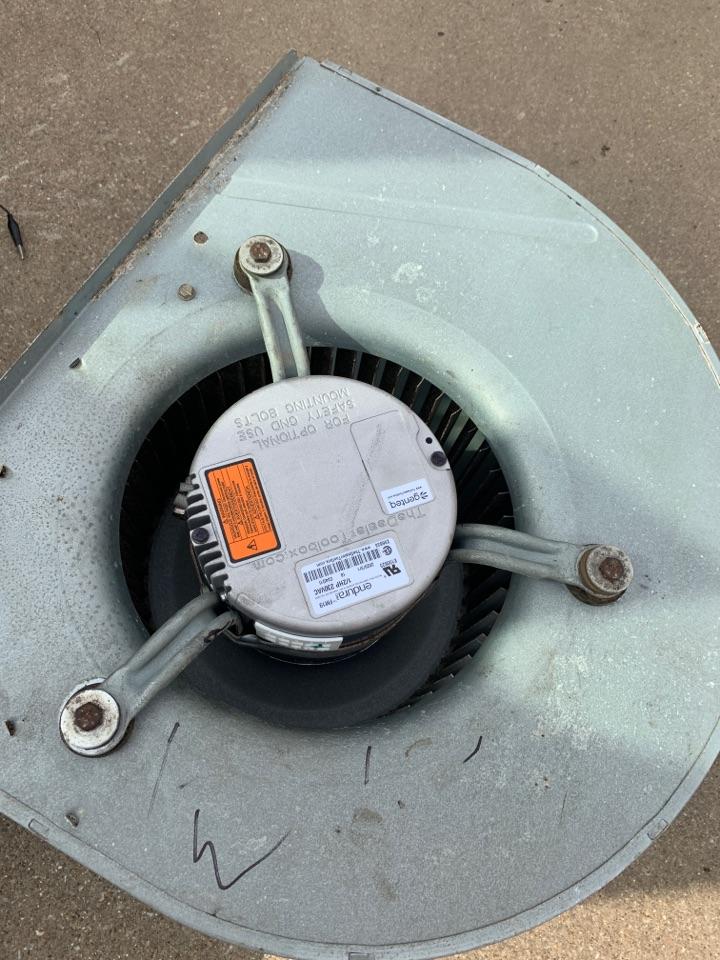 Replacing a Variable speed motormotor Inn a residence in Bullard Texas