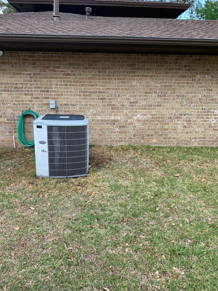 While performing maintenance on some residential equipment had to add refrigerant to a 18-year-old carrier system