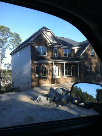 Lexington, SC - Walking a new house, doing some quality control, making sure all is well in White Knoll.