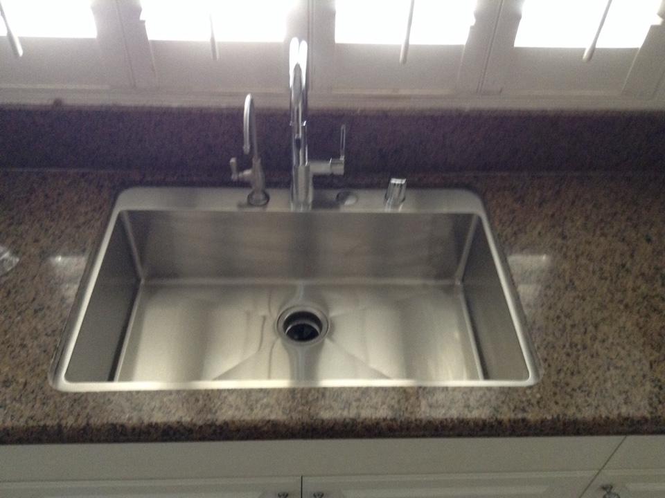 corona ca install new under mount sink faucet air gap - Kitchen Sink Air Gap