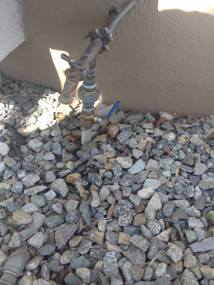 Rancho Cucamonga, CA - Replaced ball valve and sprinkler valve