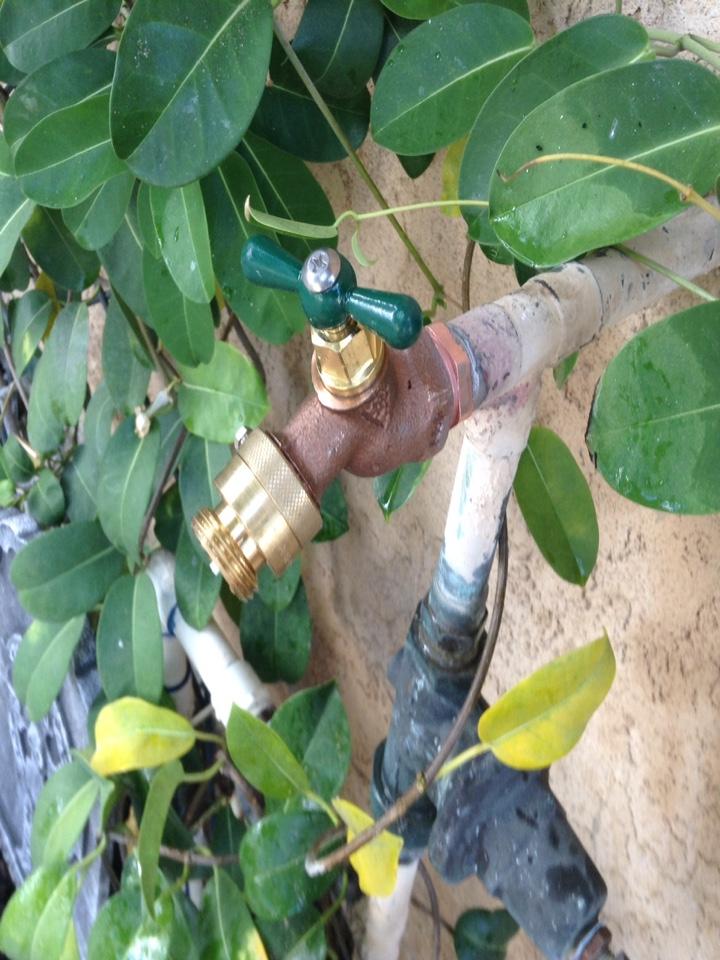 Rancho Cucamonga, CA - Installed new hose bib and new vacuumed breaker