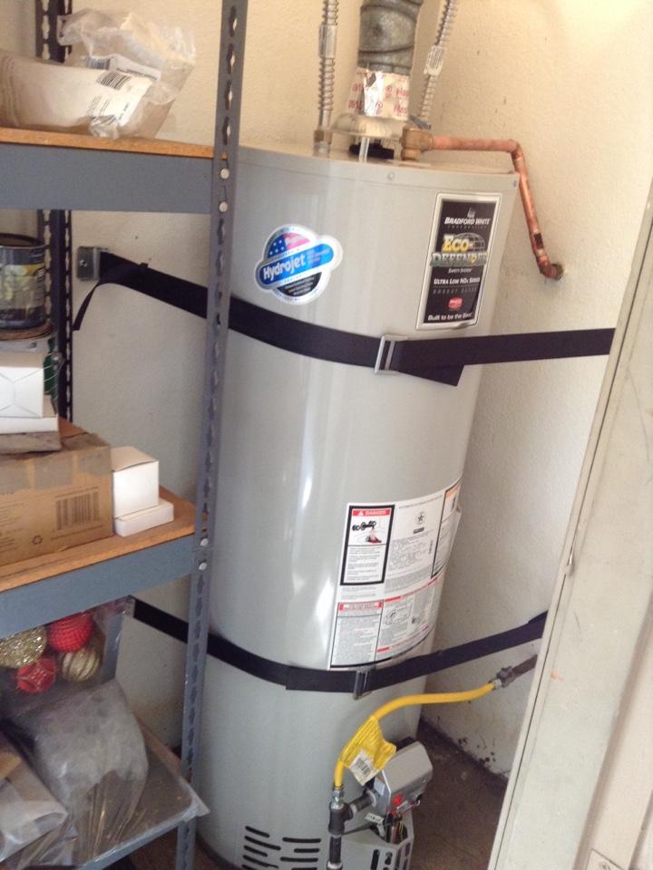 Rancho Cucamonga, CA - Installed new water 40 gallon Bradford white water heater
