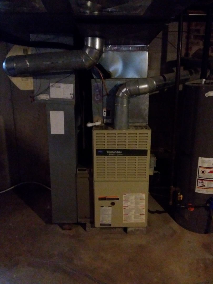 Lombard, IL - Installation of new carrier furnace replacing old carrier furnace
