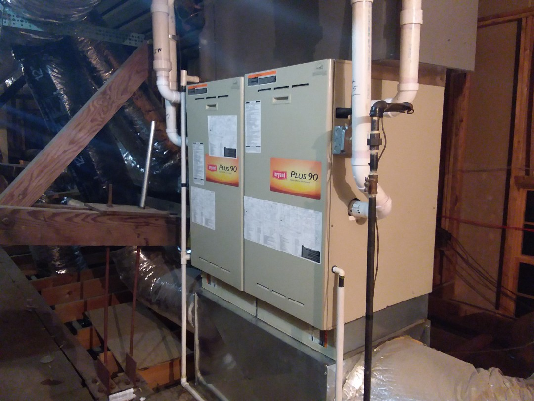 Park Forest, IL - Commercial application repairing twinned Bryant heating furnace.