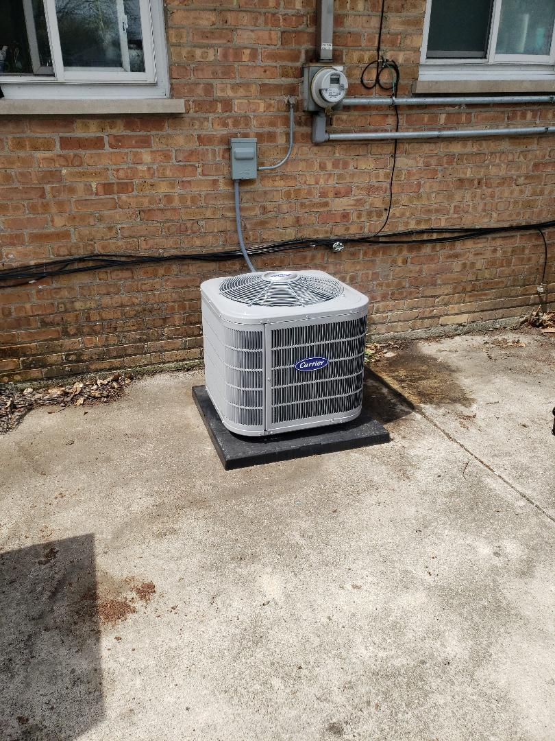 Crestwood, IL - Carrier air conditioner installation
