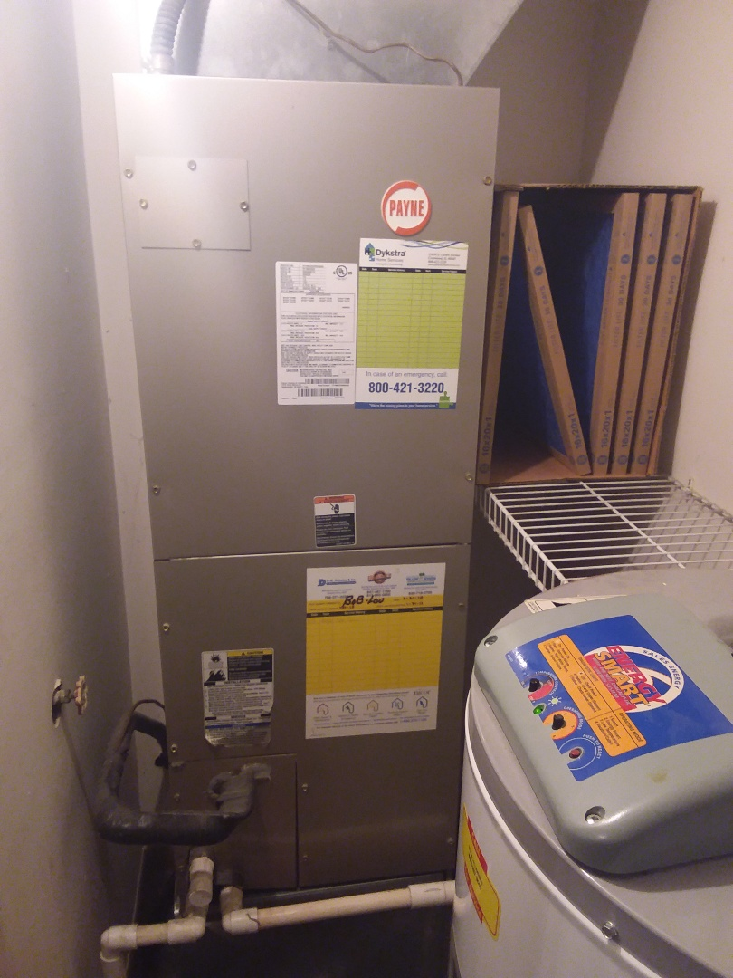 Orland Park, IL - Payne electric furnace maintenance and repair.