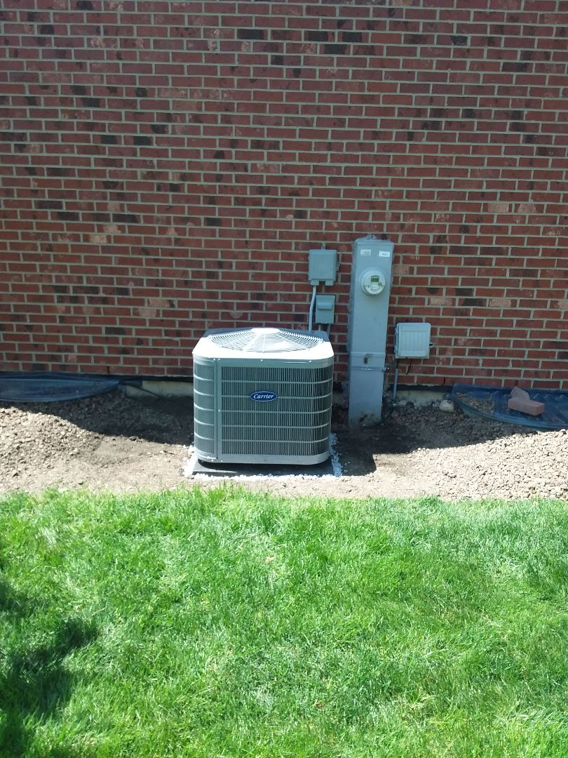 New Lenox, IL - Installation of Carrier air conditioner