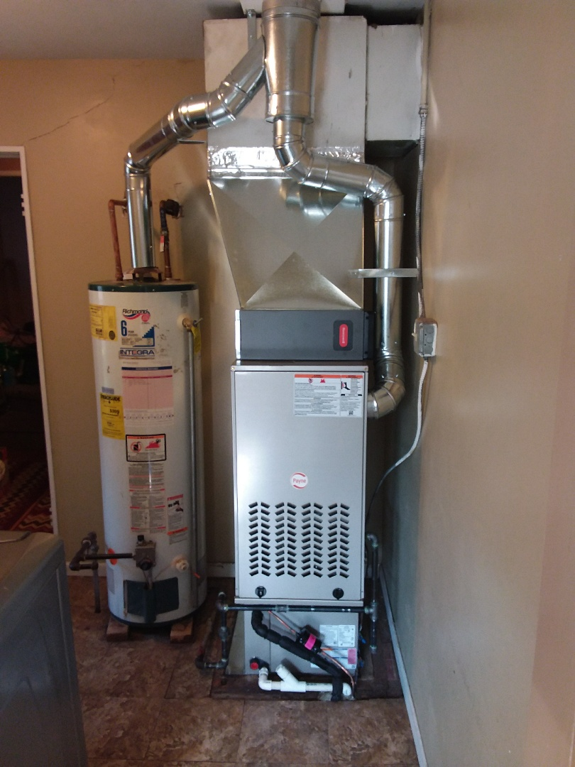 Hillside, IL - Installation of new carrier furnace replacing old American standard furnace