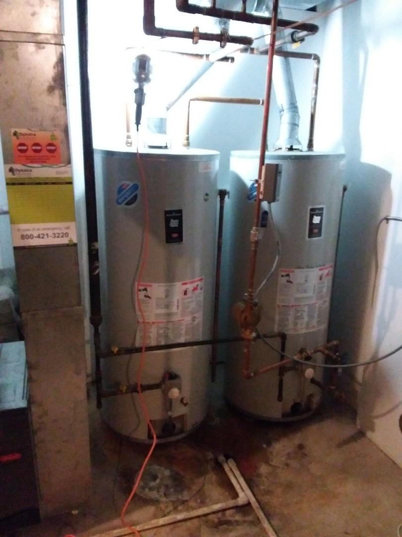 Flossmoor, IL - Installation of 2 75 gallon water heaters