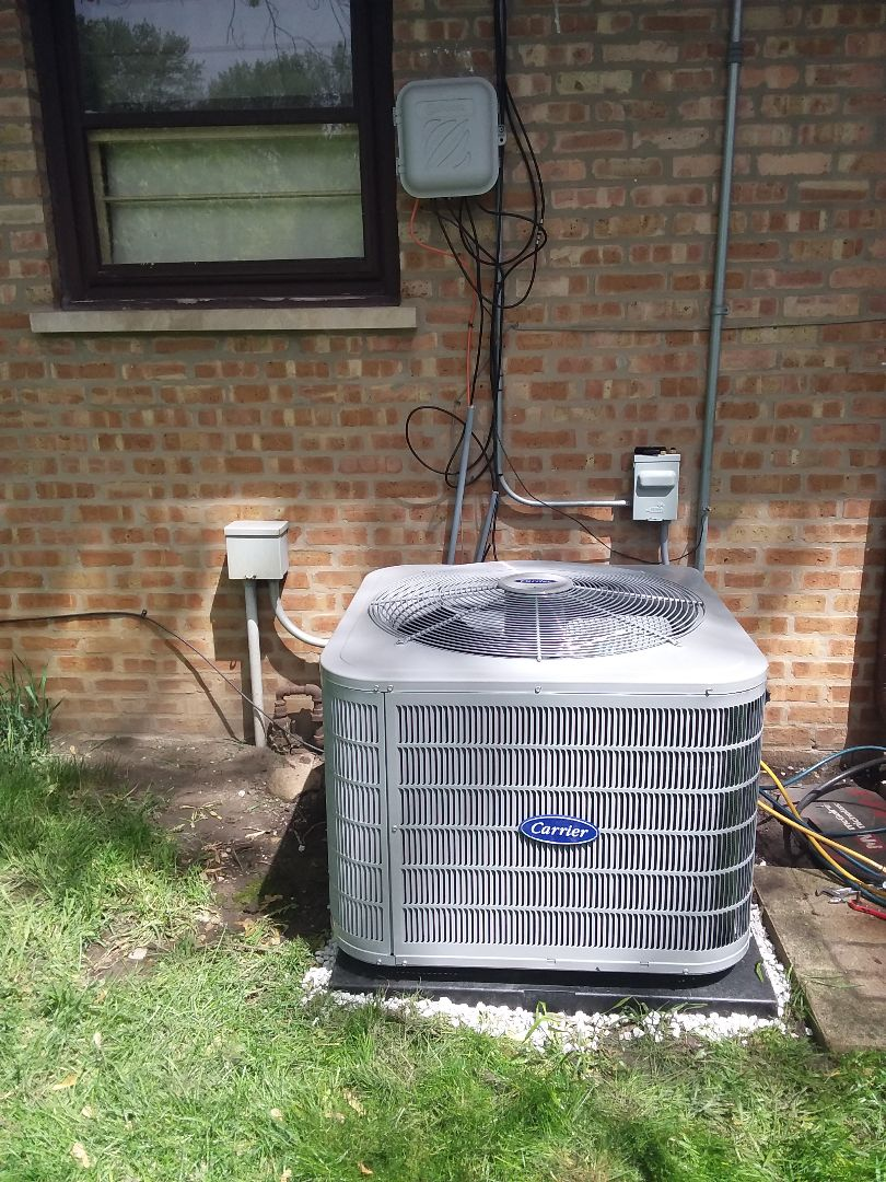 Palos Hills, IL - Installation of Carrier Air Conditioner