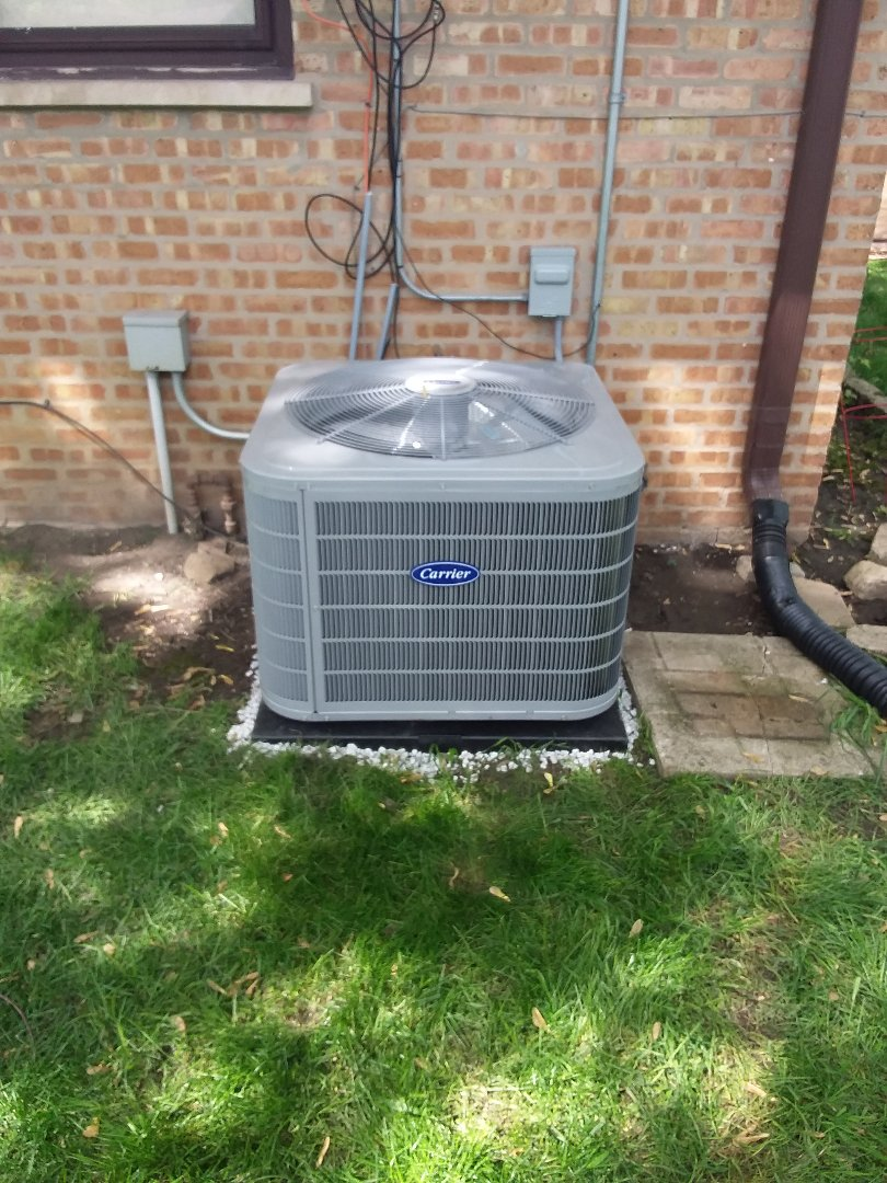 Palos Hills, IL - 16 SEER high efficiency Carrier air conditioner replacement