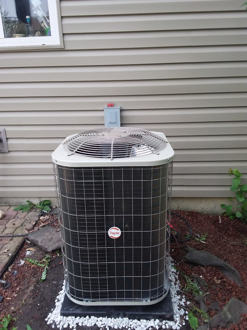 Naperville, IL - Installation of Payne air conditioner