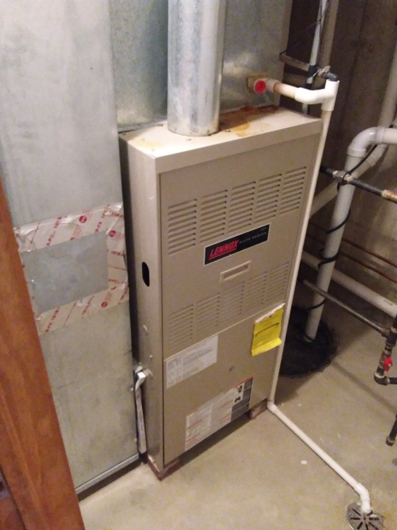 Aurora, IL - Installation of new carrier furnace replacing old Lennox furnace