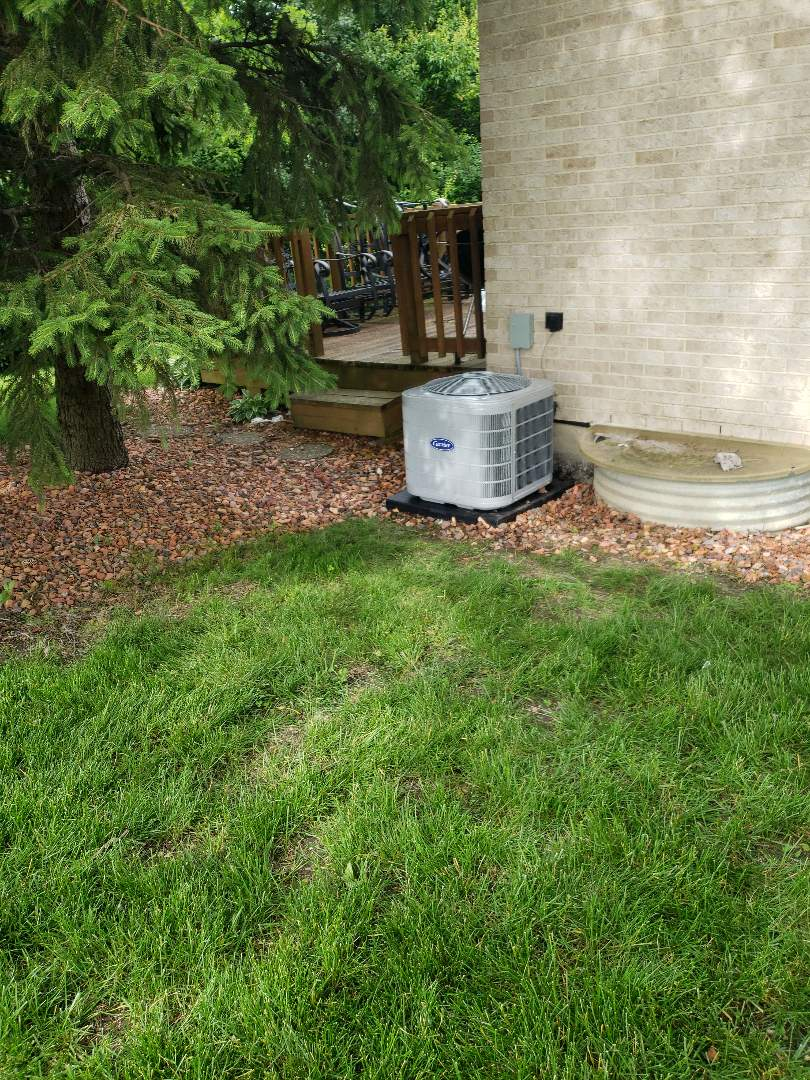 Flossmoor, IL - Carrier air conditioner installation