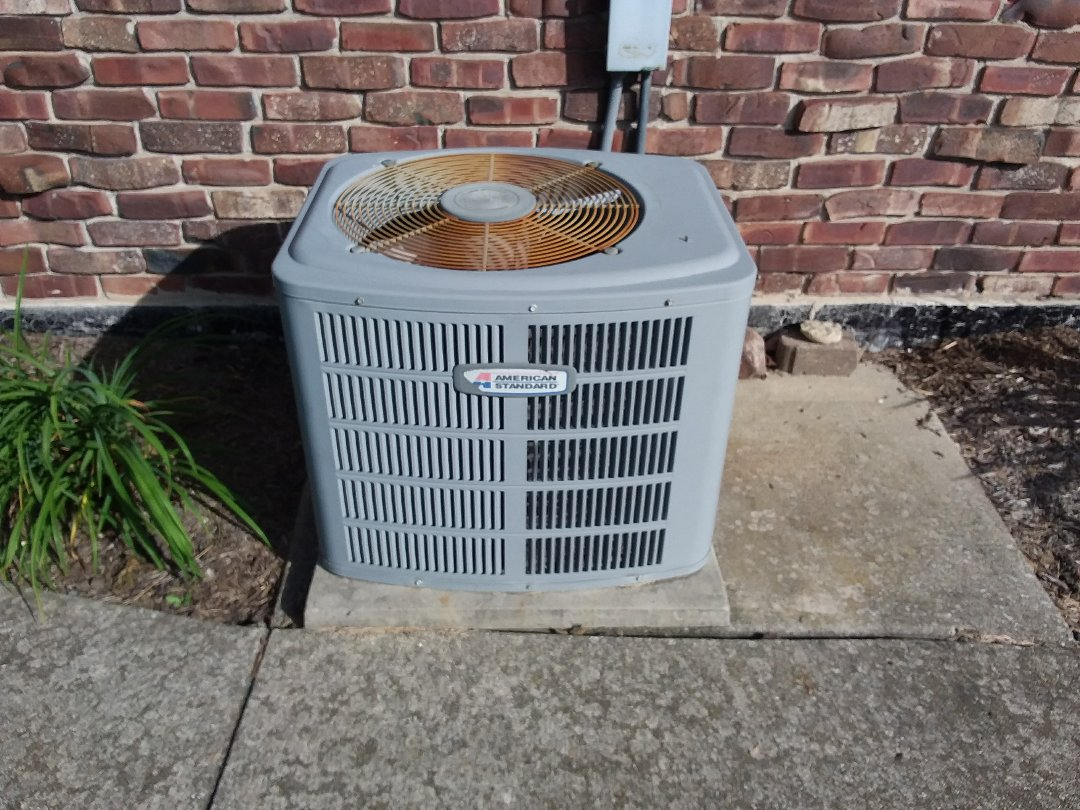 Palos Heights, IL - Installation of new carrier air conditioner replacing old American standard air conditioner