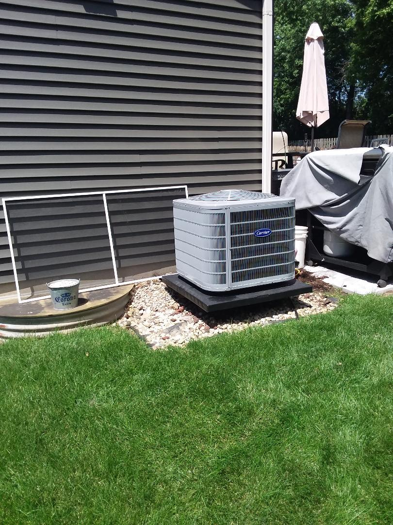 St. Charles, IL - Installation of Carrier Air Conditioner