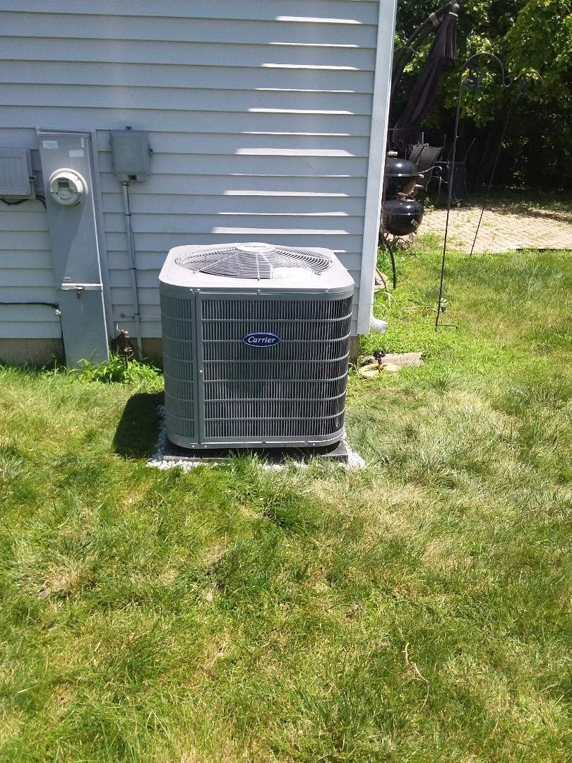 Bolingbrook, IL - Installation of Carrier Air Conditioner