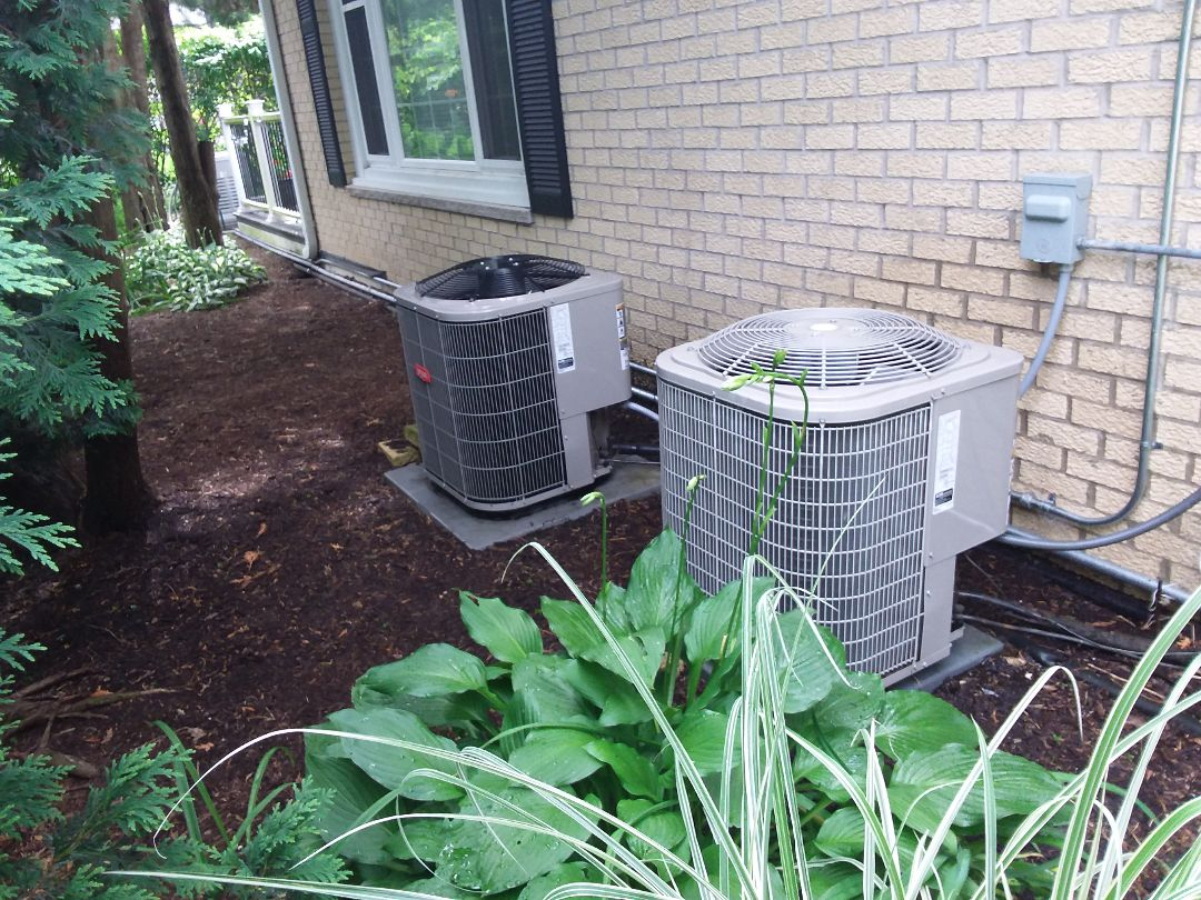 Arlington Heights, IL - Cleaned and checked 2 a/c systems