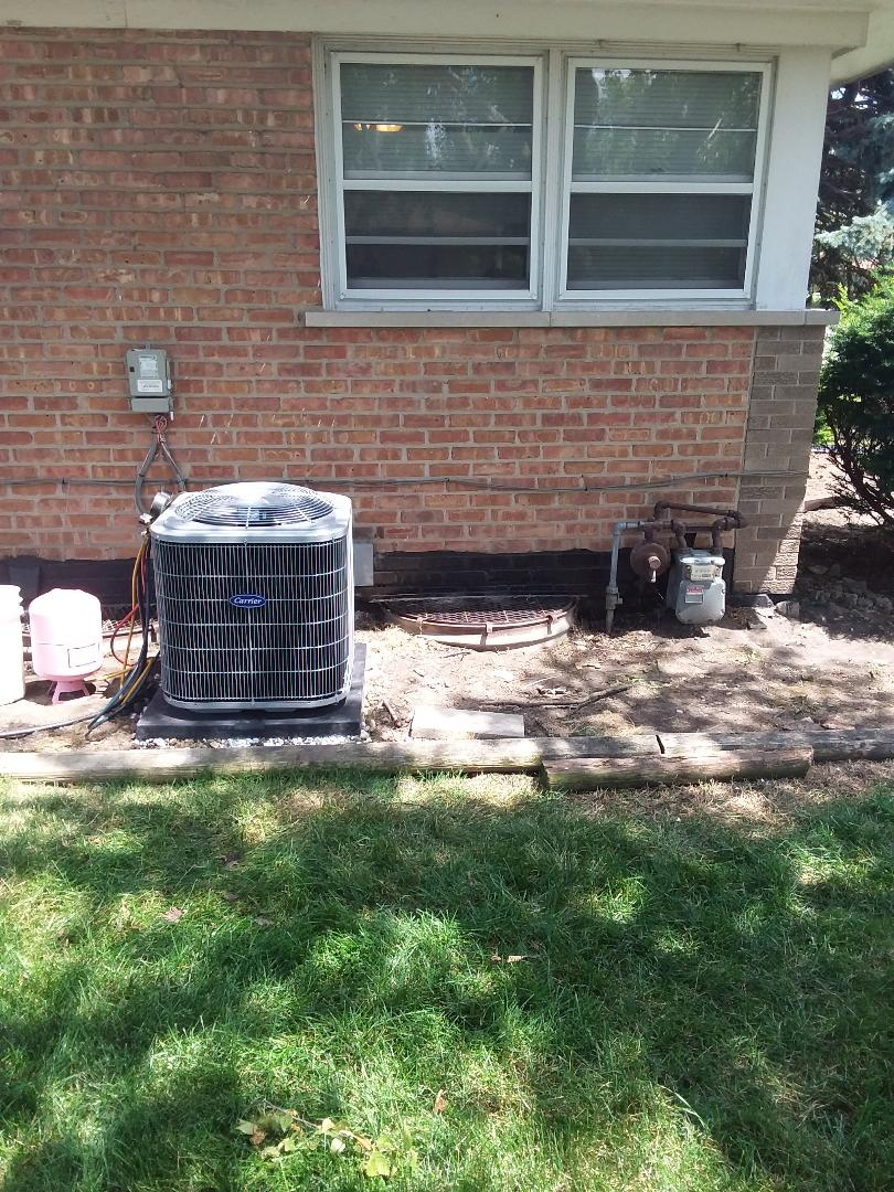 South Holland, IL - Installation of carrier air conditioner