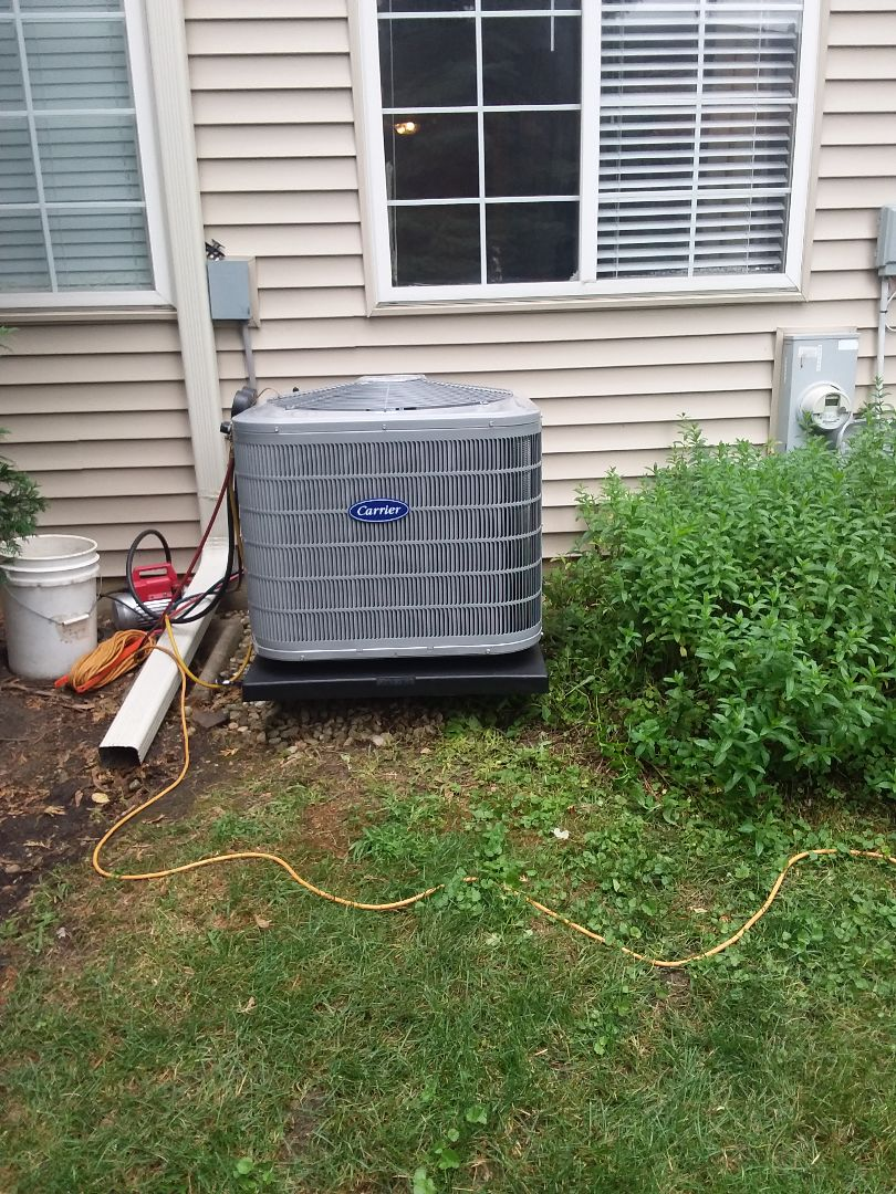 Glendale Heights, IL - Installation of Carrier Air Conditioner