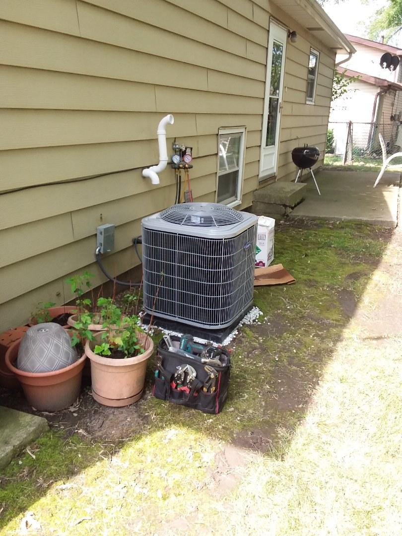 Oak Forest, IL - Carrier coil condensing unit replacement