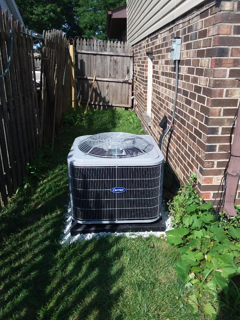 Chicago, IL - Installation of Carrier Air Conditioner