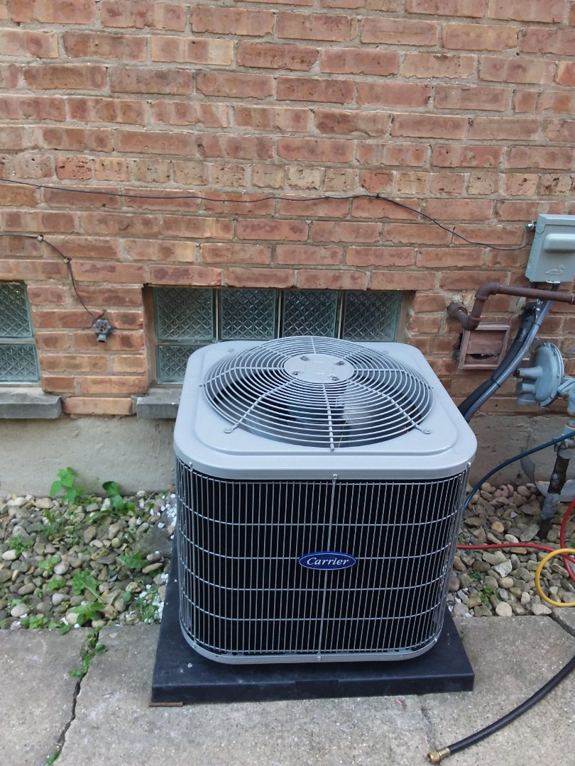 Riverdale, IL - Installation of Carrier Air Conditioner