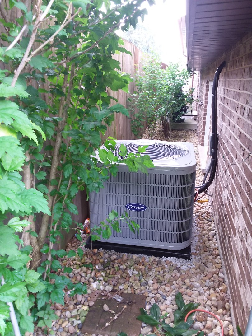Bridgeview, IL - Installation of Carrier Air Conditioner and furnace