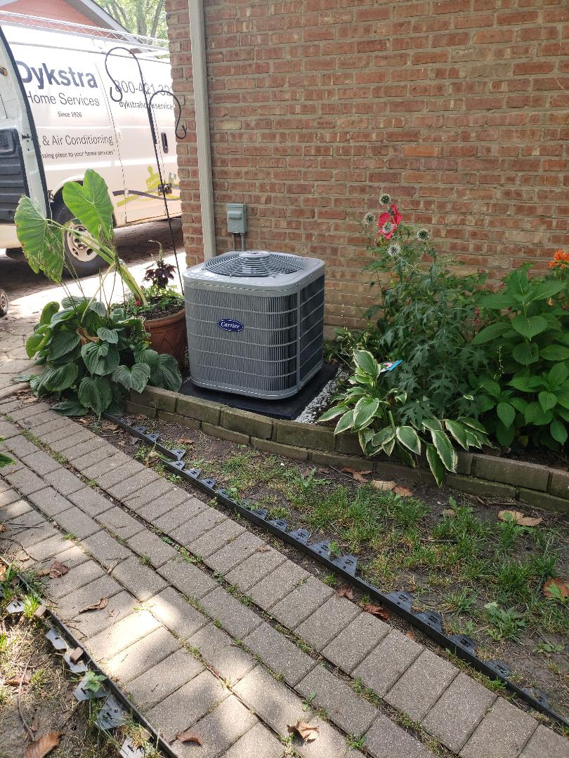 Chicago Heights, IL - Carrier air conditioner installation