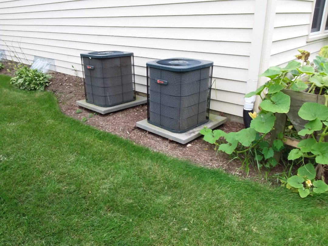 St. Charles, IL - Cleaned and checked 2 a/c systems